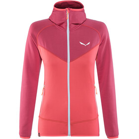 Salewa Puez 3 PL Full-Zip Hoody Women rose red